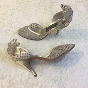 Vintage Stuart Weitzman gold d'Orsay heels 7.5